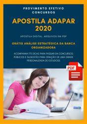 Apostila Técnico de Manejo e Meio Ambiente ADAPAR 2020