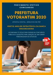 Apostila Engenheiro Agrônomo Prefeitura Votorantim 2020