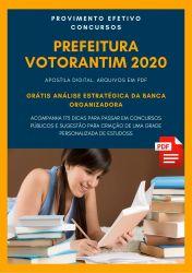 Apostila Fonoaudiólogo Prefeitura Votorantim 2020