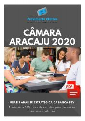 Apostila Assistente Legislativo Câmara Aracaju 2020