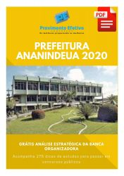 Apostila Terapia Ocupacional Prefeitura Ananindeua 2020
