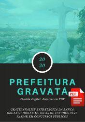 Apostila Nutricionista Prefeitura Gravatá 2020