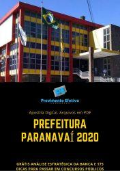 Apostila Odontólogo Prefeitura Paranavaí 2020