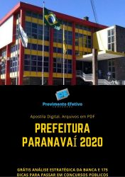 Apostila Psicólogo Prefeitura Paranavaí 2020