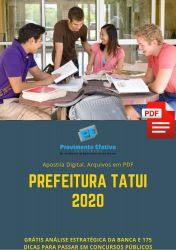 Apostila Terapeuta Ocupacional Prefeitura Tatui 2020