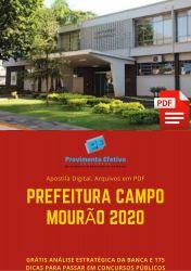Apostila Agente de Endemias Prefeitura Campo Mourão 2020