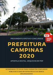 Apostila Agente de Fiscalização Prefeitura Campinas 2020