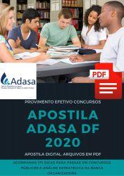 Apostila Engenharia Ambiental e Sanitária ADASA 2020 Regulador de Serviços Públicos