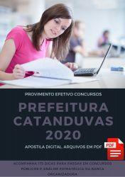 Apostila Médico Prefeitura Catanduvas 2020