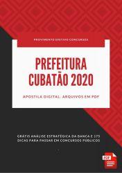Apostila Nutricionista Prefeitura Cubatão 2020