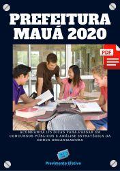Apostila Enfermeiro do Trabalho Prefeitura Maua 2020