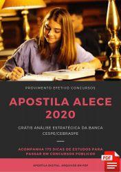 Apostila ALECE Engenharia Civil Analista Legislativo 2020