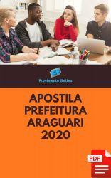 Apostila Analista Recursos Humanos Prefeitura Araguari 2020