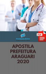 Apostila Fonoaudiólogo Prefeitura Araguari 2020