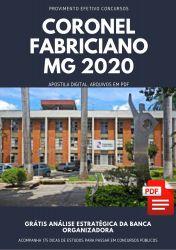 Apostila Nutricionista Coronel Fabriciano 2020