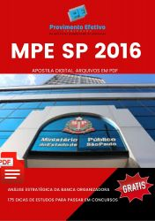 Apostila MPE SP Engenheiro Industrial Analista Técnico Científico