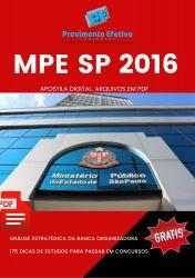 Apostila MPE SP Pedagogo Analista Técnico Científico