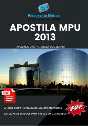 Apostila MPU 2013 Técnico do MPU Saúde Bucal