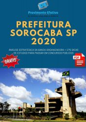 Apostila Prefeitura Sorocaba ORIENTADOR PEDAGÓGICO 2020