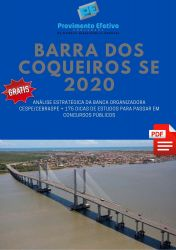Apostila Barra dos Coqueiros AGENTE DE ENDEMIAS 2020