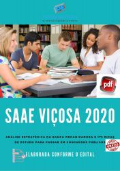 Apostila SAAE Viçosa Analista de Tecnologia da Informação 2020