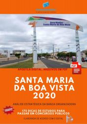 Apostila Prefeitura Santa Maria da Boa Vista 2020 cargos Nível Superior
