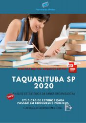 Apostila Prefeitura Taquarituba 2020 cargos Nível Médio