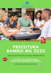 Apostila Prefeitura Bambuí 2020 cargos Nível Fundamental