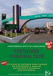 APOSTILA PREFEITURA ITABAIANA NUTRICIONISTA 2020