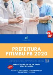 Apostila Fonoaudiólogo Prefeitura Pitimbu 2020