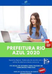Apostila Prefeitura Rio Azul Médico 2020
