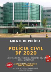 Apostila Polícia Civil DF AGENTE DE POLÍCIA 2020