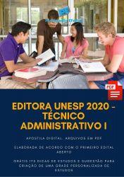 Apostila Editora UNESP Técnico Administrativo - 2020