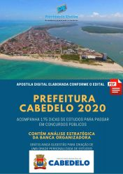 Apostila Cabedelo Auxiliar Saúde Bucal - 2020