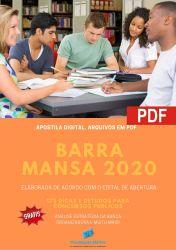 Apostila Barra Mansa Analista em Gestão Pública - 2020