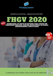 Apostila Nutricionista FHGV 2020