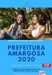 Apostila Concurso Prefeitura Amargosa BA 2020 ODONTOLOGO
