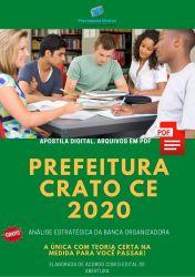 Apostila Concurso Prefeitura Crato CE 2020 Analista de Gestao