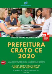 Apostila Concurso Prefeitura Crato CE 2020 Fiscal Vigilancia Sanitaria