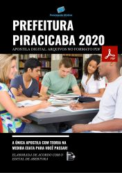 Apostila Concurso Prefeitura Piracicaba SP 2020 cargo Cirurgião Dentista