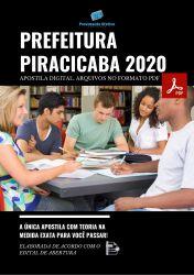 Apostila Concurso Prefeitura Piracicaba SP 2020 Tecnico de Segurança do Trabalho