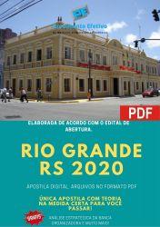 Apostila Prefeitura Rio Grande RS 2020 Auditor Fiscal Receita Municipal