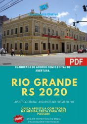 Apostila Prefeitura Rio Grande RS 2020 Fiscal Ambiental