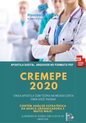 Apostila Concurso CREMEPE 2021 Medico Fiscal