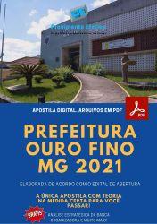 Apostila Prefeitura Ouro Fino MG 2021 Psicologo CRAS CREAS