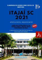Apostila Concurso Prefeitura Itajai 2021 Técnico de  Higiene Dental