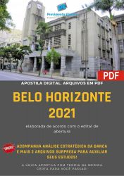 Apostila Pref Belo Horizonte 2021 Fiscal Sanitário Nivel Superior