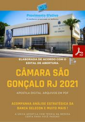 Apostila Camara São Gonçalo 2021 Analista Legislativo Contabilidade