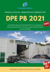 Apostila Concurso DPE PB 2021 Agente Administrativo