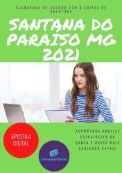 Apostila Pref Santana do Paraiso MG 2021 Nutricionista